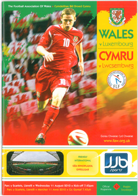 Wales v Luxembourg: 11 August 2010