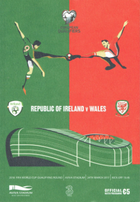 Rep of Ireland v Wales: 24 March 2017